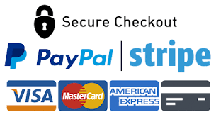 Secure checkout by Stripe or PayPal
